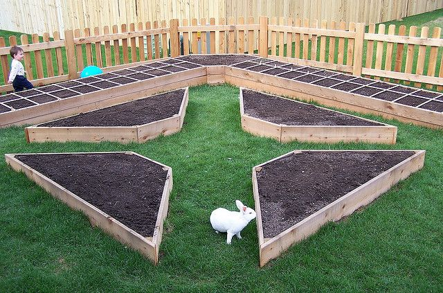 Love this layout! I would do paths in pea gravel since I made mistake of grass paths which meant constantly battling grass in the raised beds.