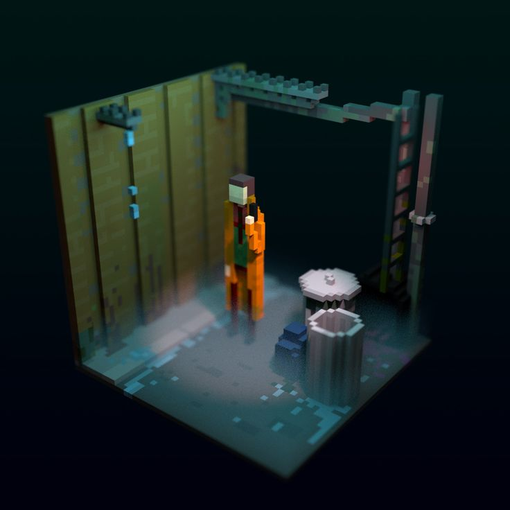 Blade Runner Voxel, Gabriel de Laubier on ArtStation at https://www.artstation.com/artwork/G1WxN