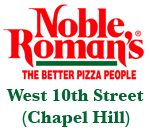 """The """"Original Noble Roman's""""! Serving Pizza, Breadsticks, Salad Bar (everyday) and FREE Refills on Soft Drinks. Dough and Breadsticks made Fresh Daily in our own kitchen. BEST Breadsticks on the Westside - Simply the BEST! BEST Deep-Dish Sicilian Pizza in Town - We Make Only the Best! Click on the """"Red House"""" icon below to view our menu. Families Welcome. Locally Owned and Operated by the """"same folks"""" for over 40 years. Located 1-mile West of ..."""