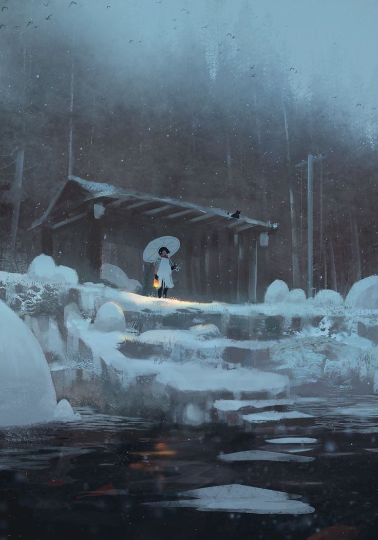 ArtStation - Snow Sketch #2, Z.W. Gu