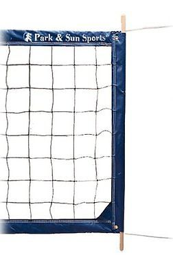 Nets 159131: Park And Sun Sports Regulation Size Indoor/Outdoor Professional Volleyball Net Top BUY IT NOW ONLY: $147.41
