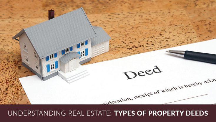 Understanding Real estate: Types of property deeds