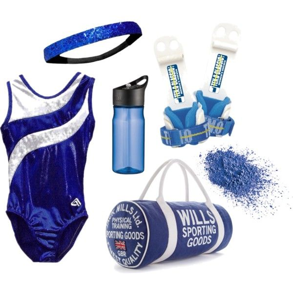 """""""Blue Gymnastics Outfit"""" by hanne-bonte on Polyvore"""