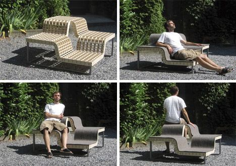 Sonntag Seating by German designer Tim Kerp does indeed seem like the perfect way to lounge away the long hours of a Sunday outdoors. The form is deceptively simple while allowing for all kinds of seating and relaxing positions as well as numerous creative configurations to facilitate interactio ...