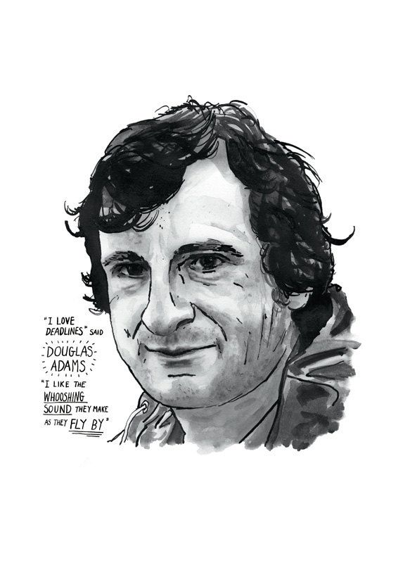 Douglas Adams poster print Great Writers by StandardDesigns, £12.50