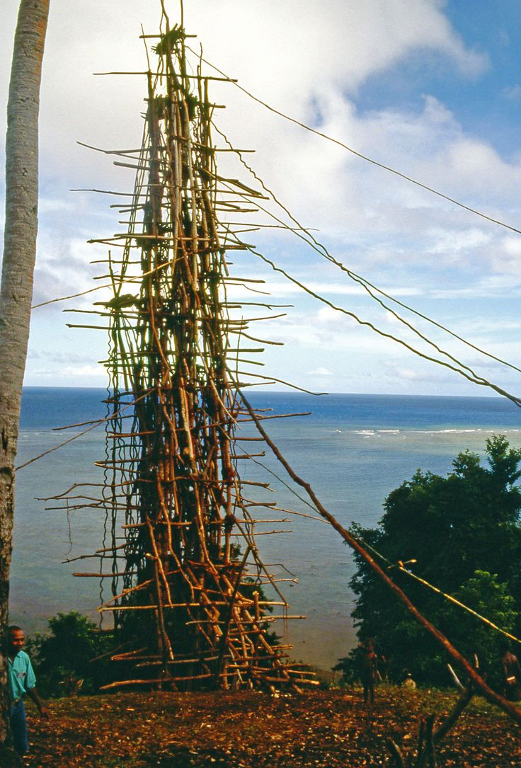 Erected for the naghol festival, a land-diving tower at the village of Wanur on the island of Pentecost, Vanuatu https://www.amazon.com/s/ref=nb_sb_ss_i_1_12?url=search-alias%3Ddigital-text&field-keywords=neil+rawlins&sprefix=neil+rawlins%2Cundefined%2C596&crid=22MB8728NECRE
