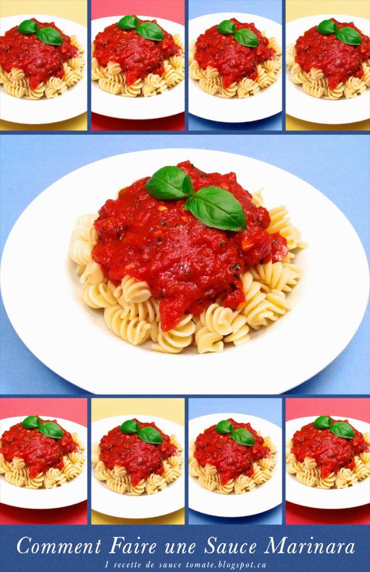 1 recette italienne: Sauce Marinara