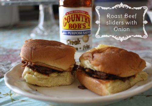Roast Beef Sliders with Onions #recipes