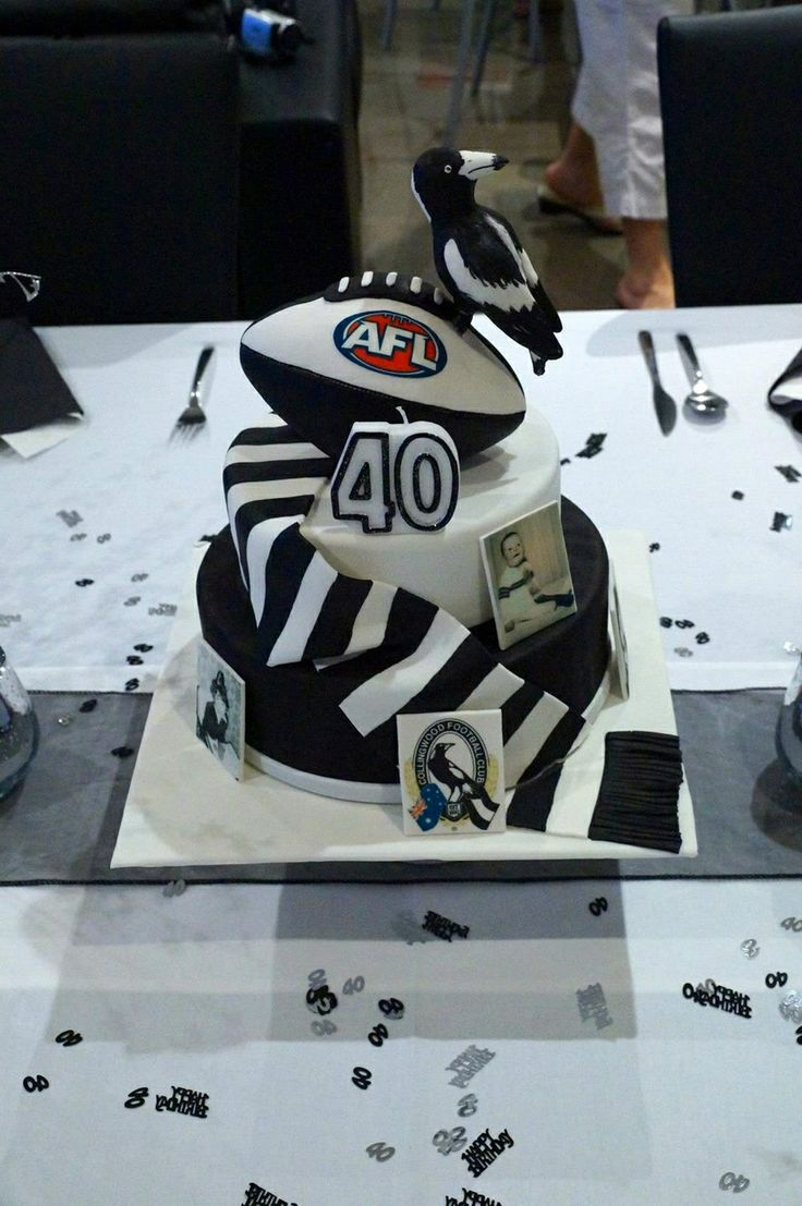 Custom Collingwood Football Birthday Cake