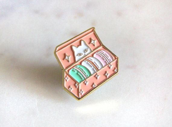 Etsy の Secret Treats Enamel Pin by SousSous