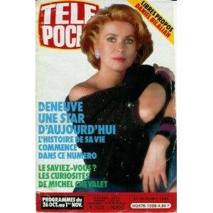 Catherine Deneuve : une star d 'aujourd'hui, dans Télé Poche (n°1028) du 21/10/1985 [couverture et article mis en vente par Presse-Mémoire]