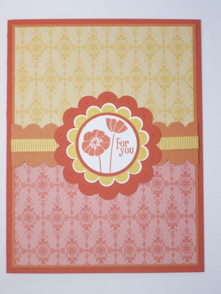 Poppy handmade stampin up greeting card cards for Handmade christmas cards pinterest