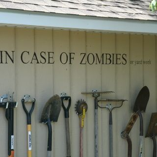 Storing garden tools with style!