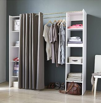 25 best ideas about girls dressing room on pinterest for Bedroom without closet options and alternatives