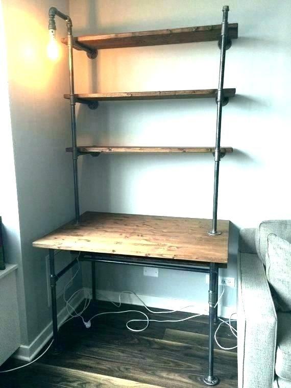 Industrial Corner Shelf Industrial Corner Shelves Desk Shelves