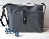 GRAY Messenger bag  / Men Messenger bag / Laptop Bag / Travel Bag / Cross body bag ROT PROOF Lining. $119.74, via Etsy.