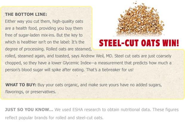 What's Healthier: Steel Cut Oats or Rolled Oats