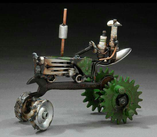 Cool art made from junk                                                                                                                                                                                 More