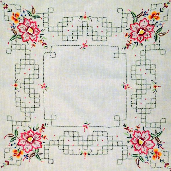 Vintage Embroidered Afternoon Tea Table Cloth with Matching Napkins, Paradis Terrestre - Luxury British Made Accessories & Homeware