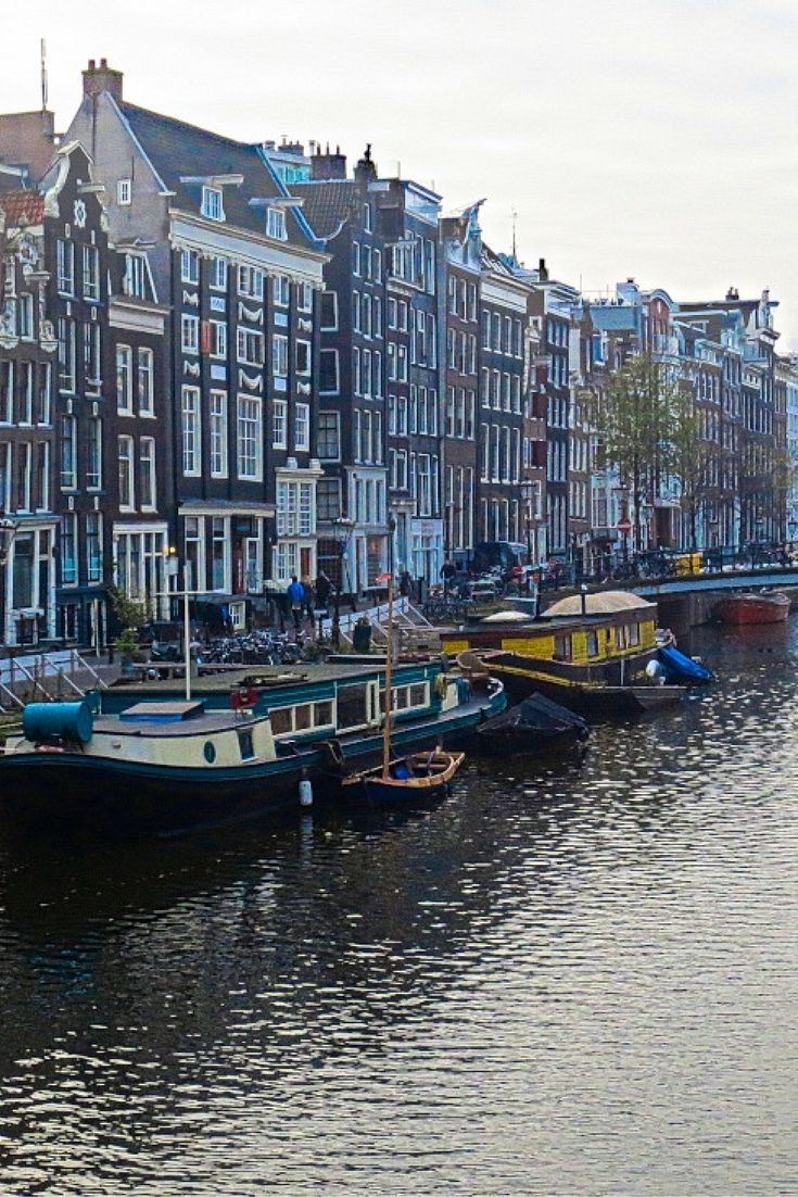 Amsterdam Houseboats, click for more images #amsterdam #travel