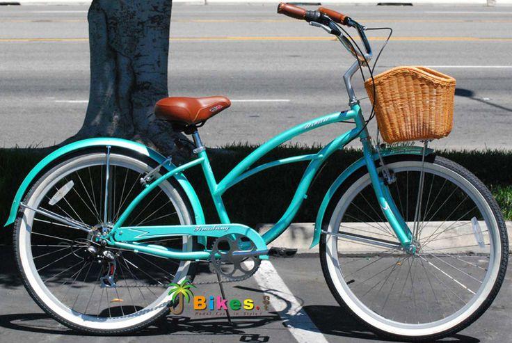 "Urban 26"" 7-Speed Custom Women's Beach Cruiser Bike Mint Green -"