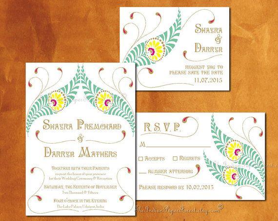 DIY druckbare Einladung Suite Eigenentwicklung Pdf VIVAAH Hochzeit sparen Datum Programm Modern Palace-Ziel indischen Engagement-Party-Folk