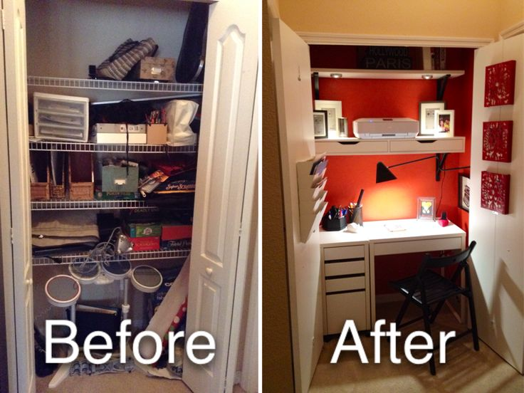 Before And After Closet Makeover Bedroom Decor Ideas Pinterest