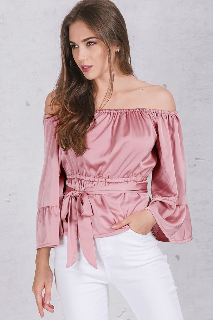 Off Shoulder Ruffle Blouse