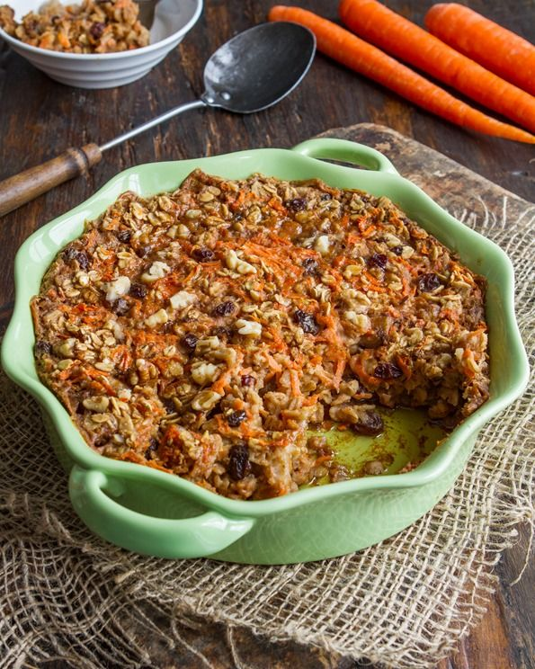 Heavenly Carrot Cake Baked Oatmeal [Vegan, Gluten-Free, Oil-Free, Soy-Free]