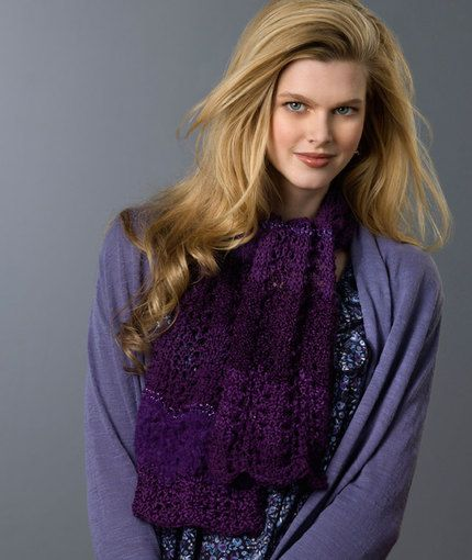 352 best images about knitting patterns - scarves & shawls on Pinterest ...