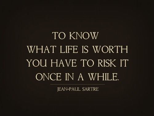 Love is the risk.
