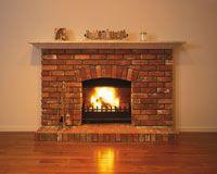 レンガ造りの暖炉[25126023619] - 写真素材・ストックフォト|アマナイメージズ