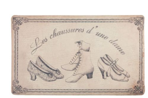 FRENCH-VINTAGE-SHABBY-CHIC-BEIGE-BLACK-SHOE-WASHABLE-DOOR-MAT-COUNTRY-COTTAGE