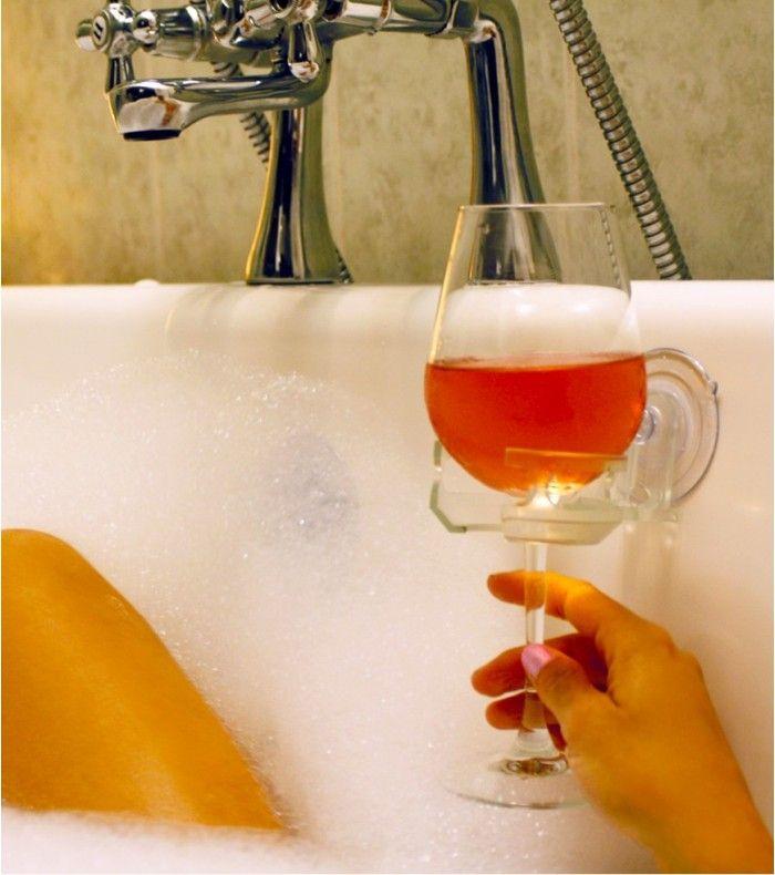 Porte-verre pour baignoire