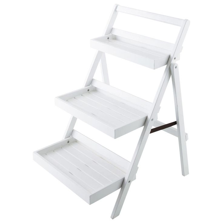 Estantería-escalera para jardín blanca ETRETAT 48,30