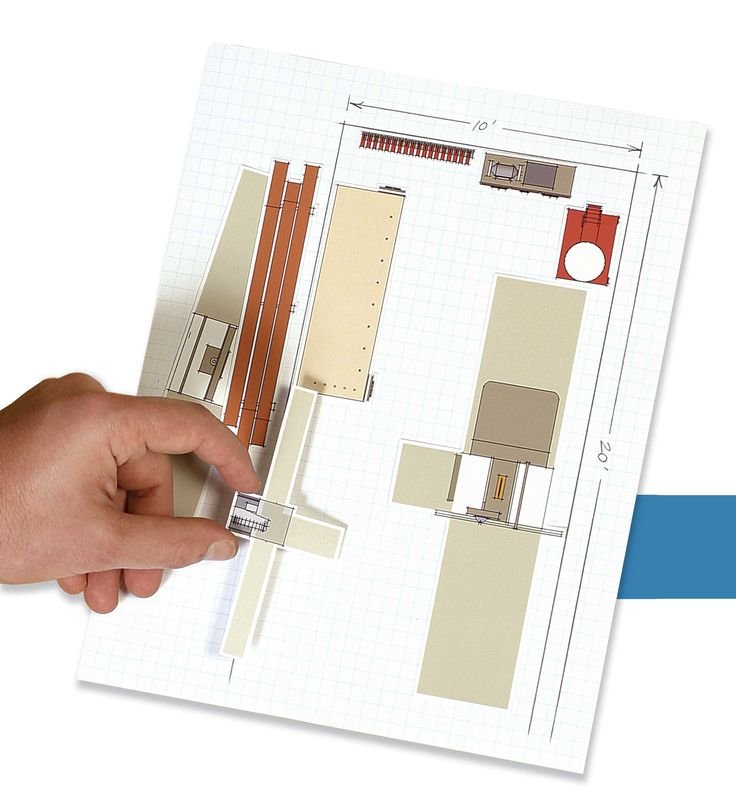 A layout kit for a workshop husband 39 s favorites for Office design tool