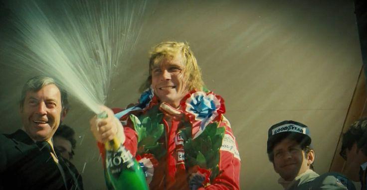 Moët & Chandon champagne held by James Hunt in RUSH (2013) #moetetchandon