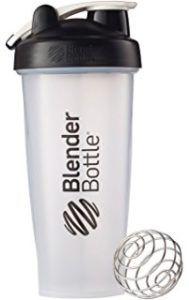 Gold Standard Whey - BlenderBottle Classic Loop Top Shaker Bottle, Clear/Black, 28-Ounce Loop Top