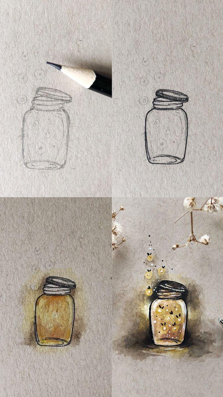 Firefly Mini Tutorial, #EinmachgläserDoodle #Firefly #Mini #tutorial