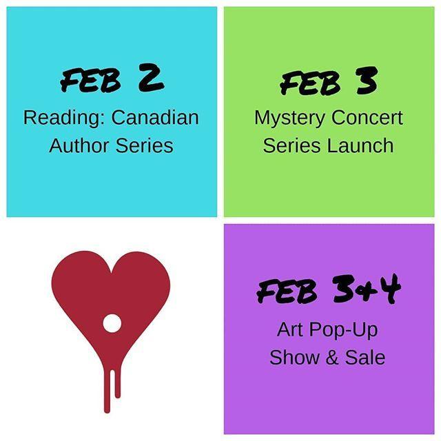 Link in bio for event details  . . . . .  #art #artgallery #canadianauthor #yegmusic #yegarts #yeglocal #yegevents #february #yegconcerts #readings #artshow #artsale #yegfun #yegweekend #yeg #edmonton #albertacanada #alberta #artistsoninstagram #yegcommunity #mystery #events #music #authorsofinstagram