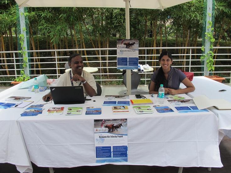 Rangan and Meera at Infosys Mysore's Community Empathy Fair!