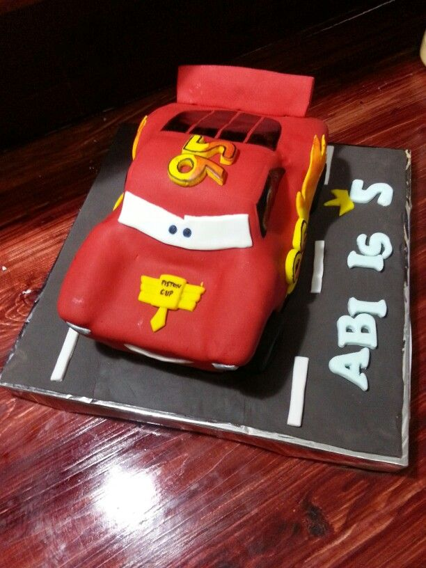 Carving birthday cake cars.. for Abi's 5th birthday