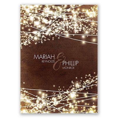 Sparkling Gala - Wedding Invitation - Sparklers, Fireworks, Two-Sided at Invitations By David's Bridal
