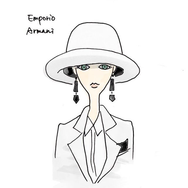what a big hat!#armani#illustration#instaart#illust#fashionillustration#fashion#drawing#sketch#instafashion#cordinate#artwork#girl#hat#catwalk#fashionweek#帽子#アルマーニ#イラスト#ファッションイラスト#コーデ#コーディネート