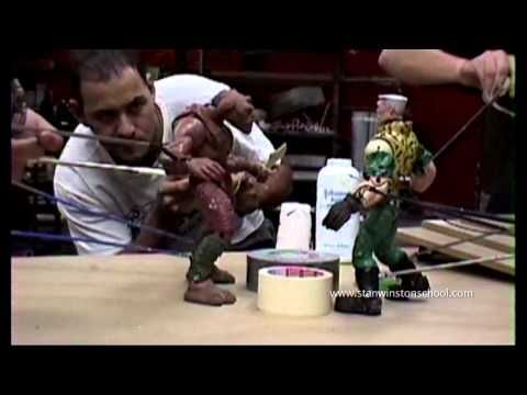 SMALL SOLDIERS Behind-the-Scenes: Rehearsing the puppet battle between Chip Hazard and Archer at Stan Winston Studio | Stan Winston School of Character Arts