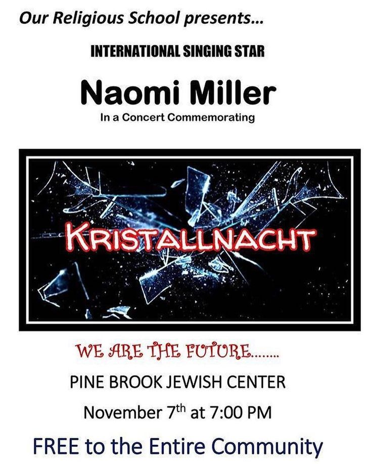 Join us for a #concert on 11/7 as we commemorate #Kristallnacht.  Learn more about what else the #PBJC Religious School is up to: [LINK IN BIO]