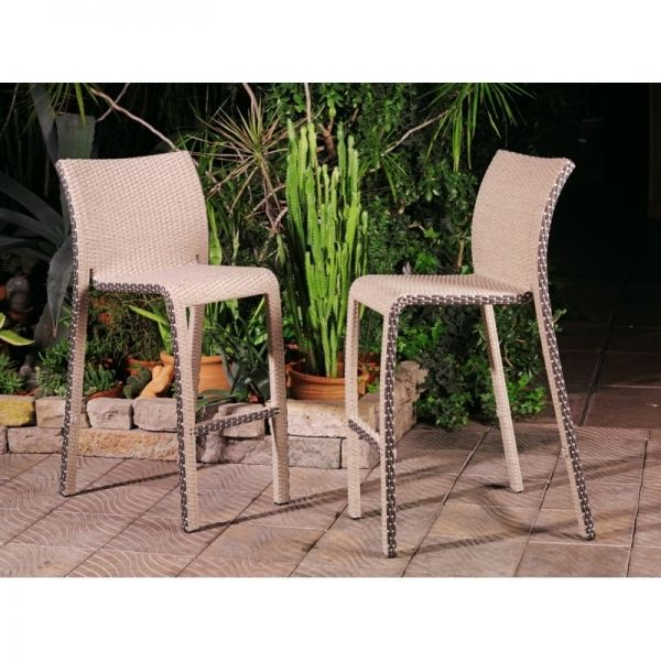 Барный стул Орхидея, ротанг светлый