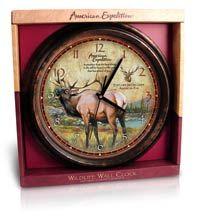 Elk Wildlife Wall Clock