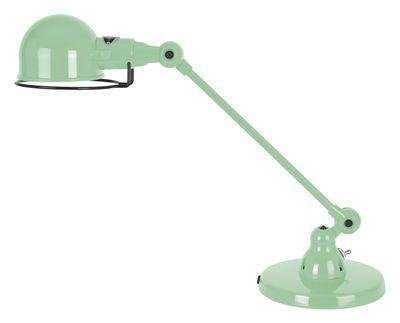 Scopri Lampada da tavolo Signal -1 braccio articolato - L 40 cm, Verde acqua brillante di Jieldé, Made In Design Italia
