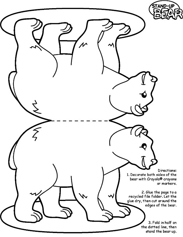 Easy bear printable add a little coconut and you have